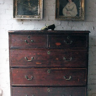 Large Mexican Pine Chest Of Drawers