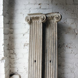 A Rare Pair of James I/Charles I Carved Oak Wall Pilasters c.1610-30