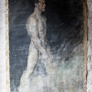 Two Large Mid 20thC Oil on Canvas Male Nude Studies by Sidney Horne Shepherd (1909 – 1993)