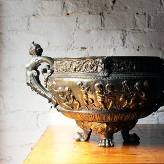 A Good French Gilt Metal Renaissance Revival Wine Cistern c.1870