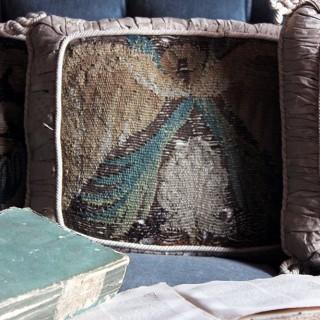 Three Beautiful 17thC & Later Verdure Tapestry Cushions