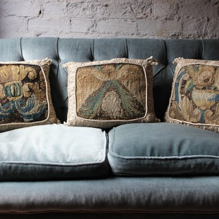 Three Beautiful 17thC & Later Verdure Tapestry Cushions