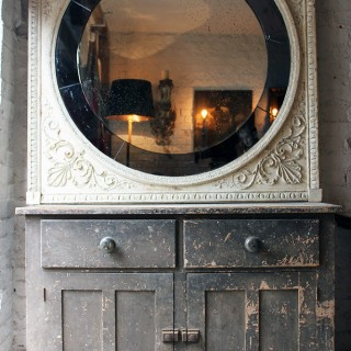 A Stunning Large c.1780 & Later Adams Design Chimneypiece Panel as an Overmantle Mirror