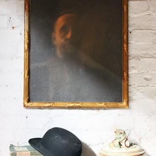 A Marvellous Late 19thC Belgian Symbolist School Portrait of a Man