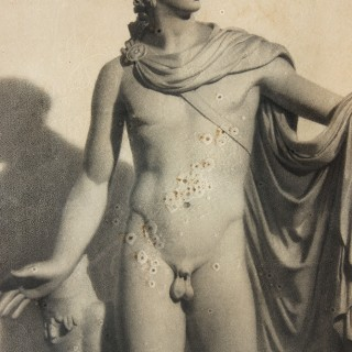 A Very Fine c.1864 Pencil Study of the Apollo Belvedere