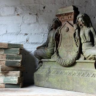 A Well Cast 19thC Architectural Cast-Iron Memorial; 'Beata Est Anima Eius'