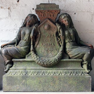 A Well Cast 19thC Architectural Cast-Iron Memorial; 'Beata Est Anima Eius'
