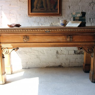 An Imposing Georgian Revival Bleached Oak Counter Table c.1885