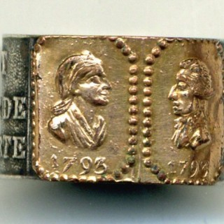 France, French Revolution, Mourning Ring, 1793