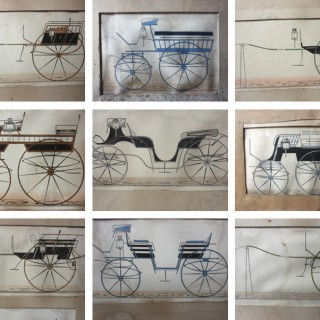 Coach Building: A Scarce Group of c.1860s Framed Carriage Designs