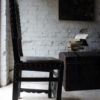 A Decorative 17thC Spanish Walnut Baroque Period Side Chair