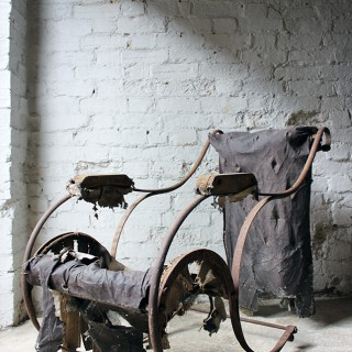 A Victorian Wrought Iron Rocking Chair Attributed to RW Winfield c.1850