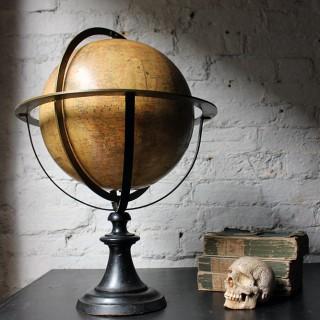 "A Good c.1885 French Terrestrial Table Globe; ""Globe Terrestre"" prepared by J FOREST, Paris"