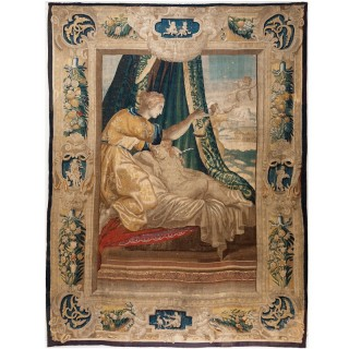 MYTHOLOGICAL TAPESTRY 'PSYCHE AWAKING CUPID'