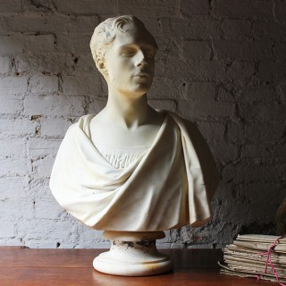 Antique Fine Early Victorian Marble Bust of a Gentleman; Timothy Butler RA 1841