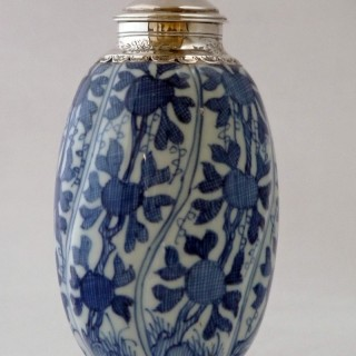 KANGXI - CHINESE - BLUE AND WHITE PORCELAIN JAR