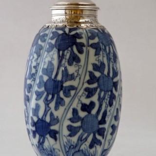 KANGXI - CHINESE - BLUE AND WHITE PORCELAIN JAR