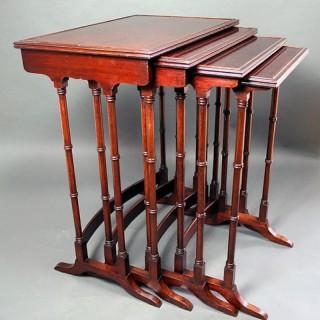 George III Mahogany nest of tables
