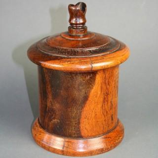 Lignum Vitae treen String Box