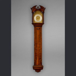 An exceptional George III mahogany barometer, by GEORGE HALLIFAX, Doncaster c1760