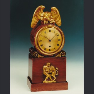 A fine regency rouge marble and ormolu mounted mantel timepiece, by VULLIAMY No. 753, London, c1822