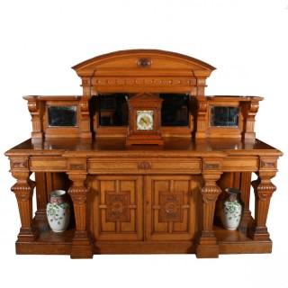 Impressive Victorian Oak Sideboard