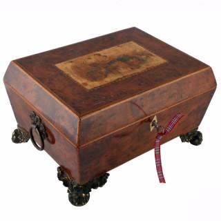Regency Yew Wood Jewel Box