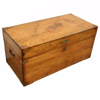 Early Victorian Camphor Wood Trunk