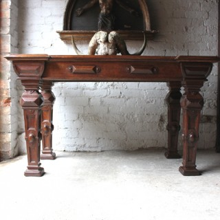 A Very Fine Early Victorian Elizabethan Revival Oak Centre Table c.1845