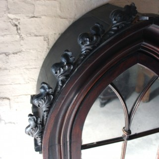 A Very Good Quality c.1860s Gothic Revival Oak Hall Cupboard