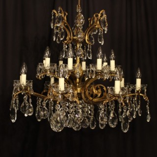 An Italian Gilded 16 Light Antique Chandelier