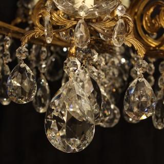 An Italian Gilded 16 Light Antique Chandelier
