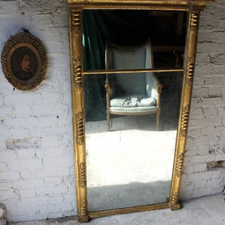 A Large Early 19thC Regency Period Gilt Pier Glass Mirror