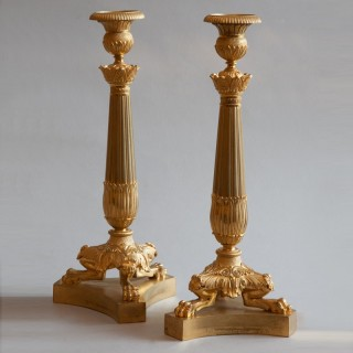 PAIR OF RESTAURATION CANDLESTICKS