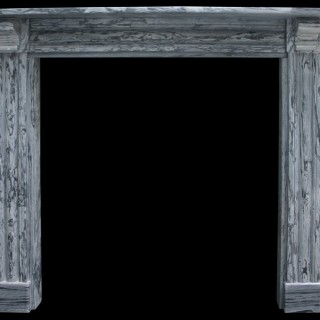 ANTIQUE RECLAIMED REGENCY STRIATED GREY MARBLE FIRE SURROUND