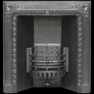 ANTIQUE CARRON VICTORIAN CAST IRON FIREPLACE GRATE