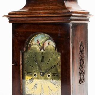 A most unusual mahogany moon dial bracket clock by Thomas Moss, Frodsham ( Cheshire) C1770.