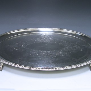 A Victorian Antique Silver Two handled Tray