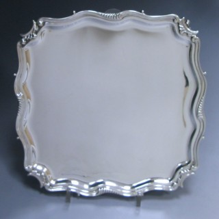 Edwardian Antique Silver Salver