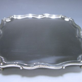 Edwardian Antique Silver Salver