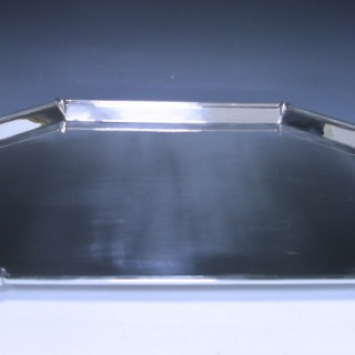 An Art Deco Silver Tray