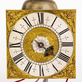 An attractive small hook & spike timepiece alarm by William Carter Amphill ( Bedfordshire) C1715 – 20.