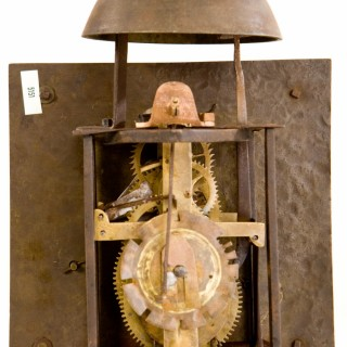 A rare 3-train ¼ striking lantern clock by William Tomlinson, London C.1730.