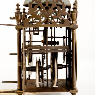 A most rare and original late 17th century lantern clock, probably North West England C1690.