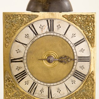 "A good rare hook & spike 30-hour wall clock by ""William Ball, Bister"" (Oxon) C1725."