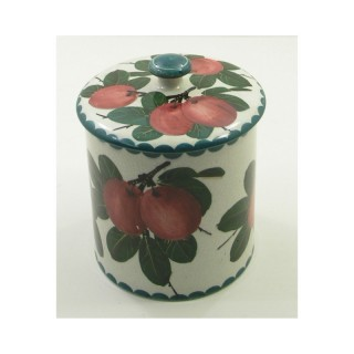 SCOTTISH WEMYSS WARE PRESERVE POT & COVER. PLUMS