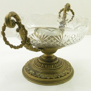 FINE QUALITY 19th CENTURY FRENCH GILDED TAZZA