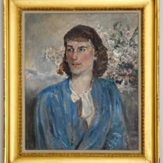 Isabel - Portrait of a Girl in Blue - Dame Ethel Walker
