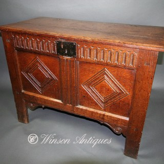 A Small 17th century Oak coffer