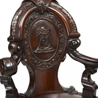 Carved Ship's Chair
